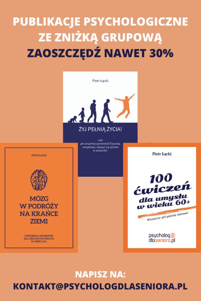 Publikacje psychologiczne dla seniorów ze znizka