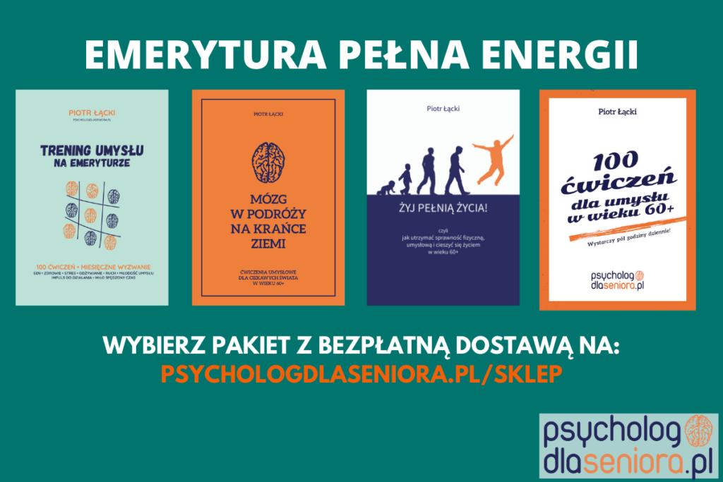 Emerytura pełna energii pakiet książek psychologicznych