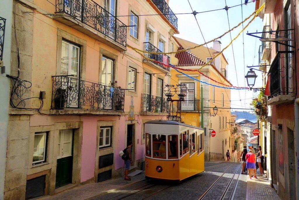 Wąskie uliczki Lizbony